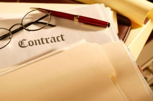 picture of contract